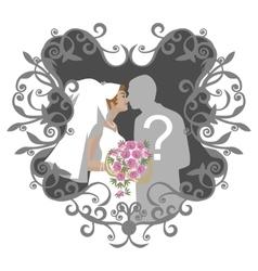 Wedding couple 10 vector image