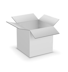 white cardboard boxes template vector image