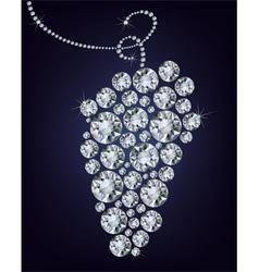 Wild diamond grape vector image