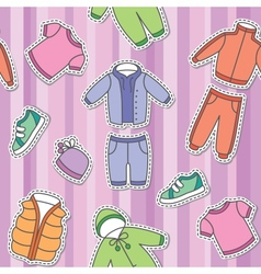 childrens clothes vector image