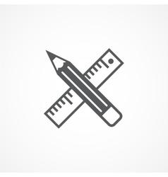Design tools icon vector image