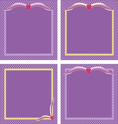 Purple frames vector