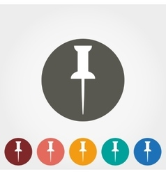 Pushpin icon vector image