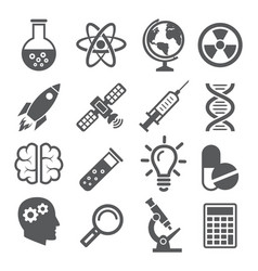 science icons on white vector image