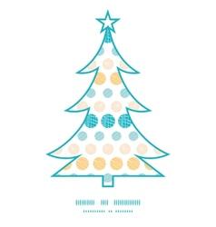 texture circles stripes abstract Christmas tree vector image vector image
