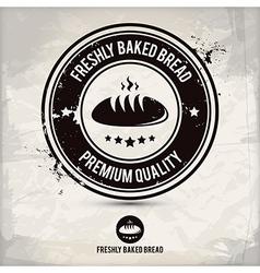 alternative freshly baked bread stamp vector image vector image