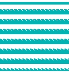 aqua green waves seamless pattern vector image vector image