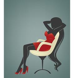 office relaxing girl vector image