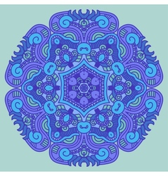Ornamental round ethnicity pattern vector image