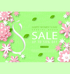 8 march happy womens day sale banner beautiful vector