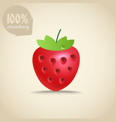 Cute fresh strawberry vector image