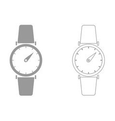 hand watch the grey set icon vector image vector image
