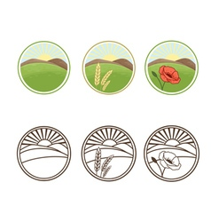 icons of nature vector image vector image