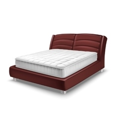 Mattress Bed Realistic vector image