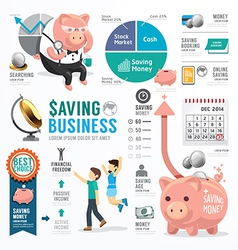 Money Saving Business Template Design Infographic vector image vector image