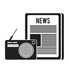 newspaper communication news vector image vector image