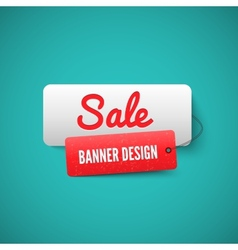 Sale 3D banner tag Sales Labels concept vector image