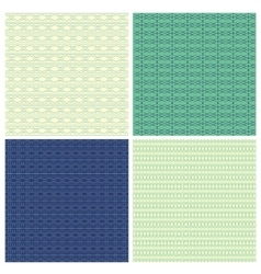 Set of 4 abstract ornamental seamless patterns vector image