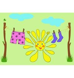 The cheerful sun vector image