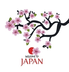 tree traditional japanese icon design vector image