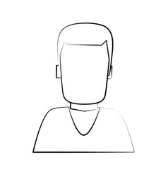 man avatar portrait icon image vector image vector image