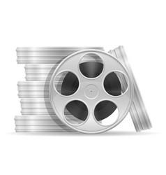 reel with cinema film stock vector image