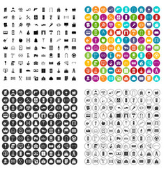 100 housing construction icons set variant vector