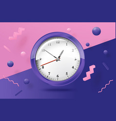 3d realistic bright watches abstract scene vector image