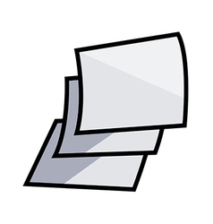 A paper is placed vector