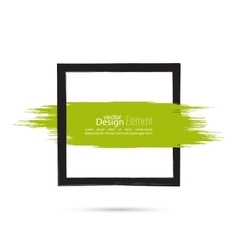 Abstract background with square banner vector image