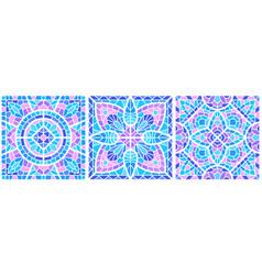 Ancient mosaic ceramic tile pattern decorative vector