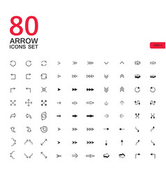 arrow sign icons buttons set vector image