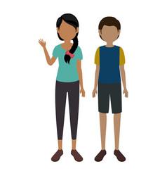 avatar couple icon vector image