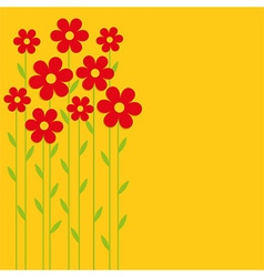 Background red flowers vector image