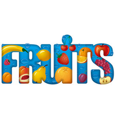 banner inscription fruits and berries images vector image