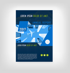 blue and green modern annual report mockup vector image