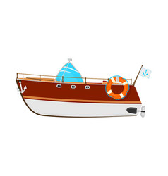 cartoon motor boat vector image