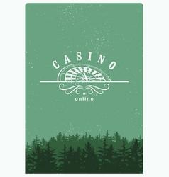 casino label logo badge emblem sign poster vector image