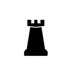 chess rook icon element of chess for mobile vector image