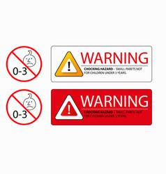 Choking hazard warning sign vector