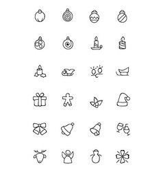 Christmas Hand Drawn Icons 2 vector image