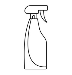 cleaning spray icon outline style vector image