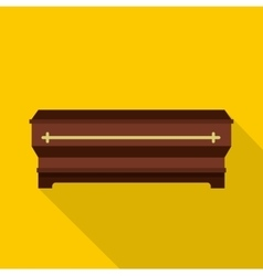 Coffin icon flat style vector image