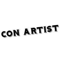 Con artist typographic stamp vector