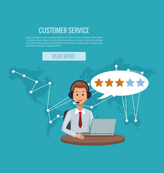 customer service banner vector image