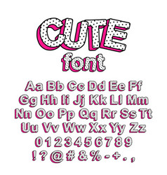 cute lol doll surprise style font vector image