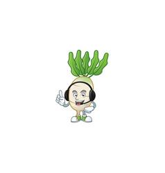 Daikon cute cartoon character design with vector