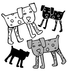 Design with stylized dog vector