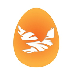 Easter egg with pigeon vector image