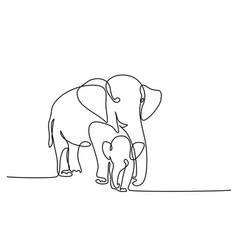 Elephant with baby vector